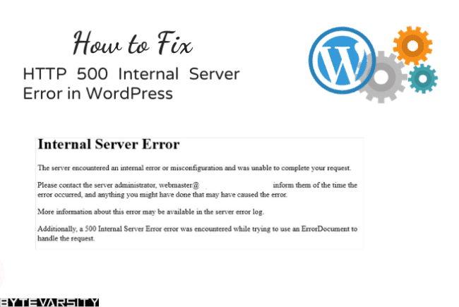 [5-Min Fix] 500 Internal Server Error in WordPress