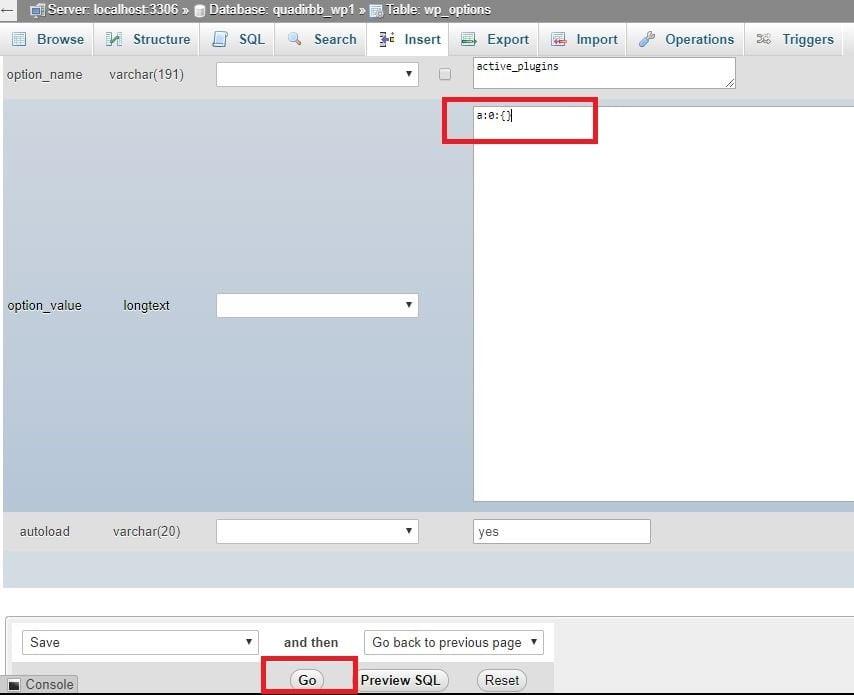 Deactivate All WordPress Plugins Via cPanel