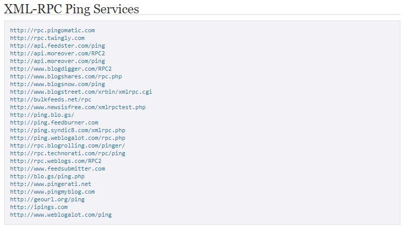 Add Ping List to WordPress Website 2