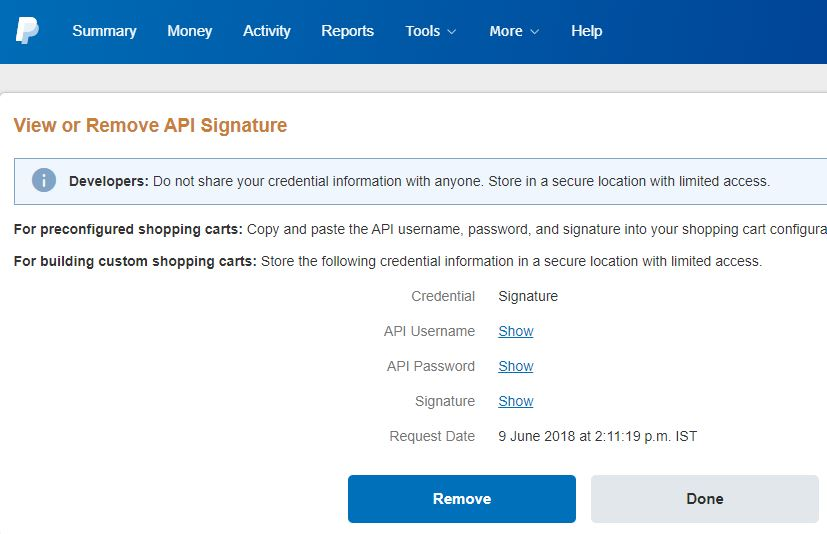 Get Your PayPal API Username, Password, and Signature
