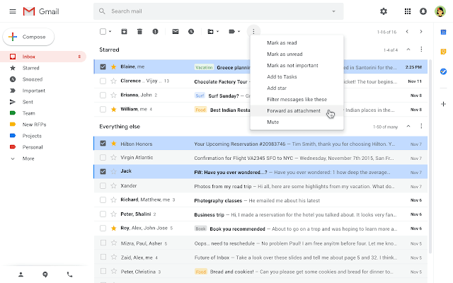 send email as attachments in gmail screenshot