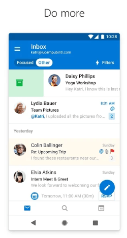 outlook android app