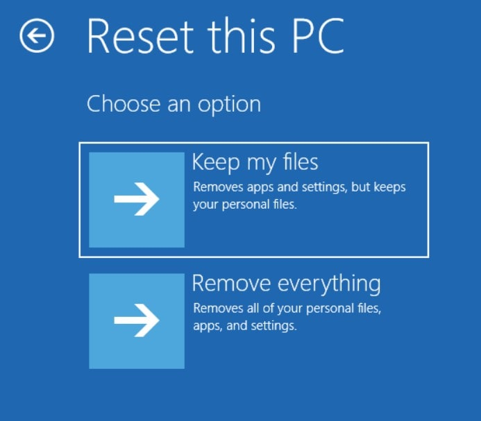 Alternative option to reset your Windows laptop
