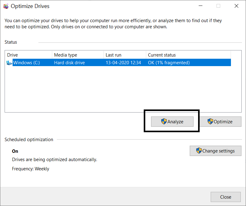 steps to run disc defragmentation - increase my laptop speed