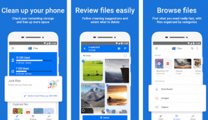 FilesGo app - clean up android phone