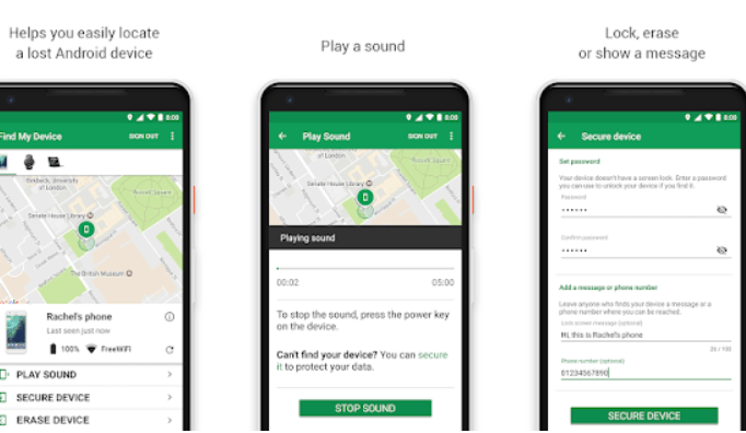 Google find my device enables you to find your lost phone easily.