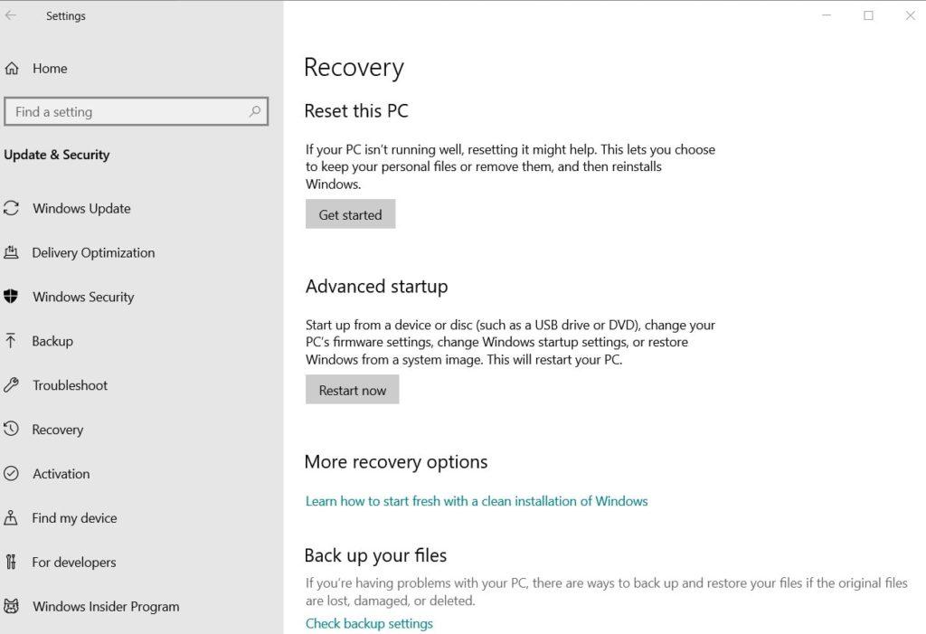Reset your Windows 8 & laptop