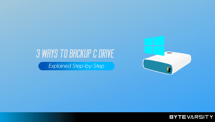 How to backup C drive