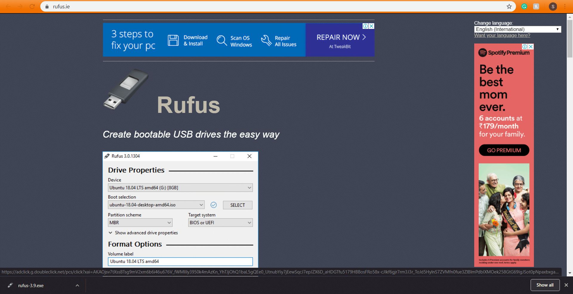 Rufus installation