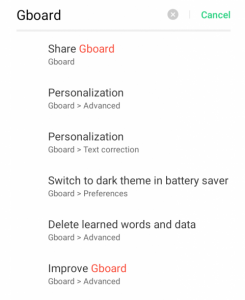 Remove the Google from Gboard Space bar