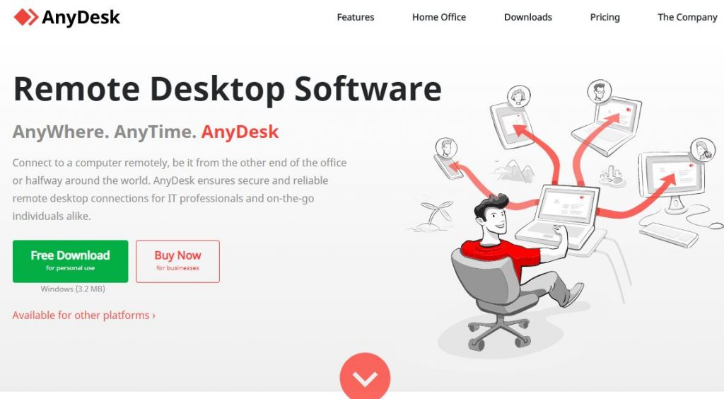 connect to another computer remotely using AnyDesk