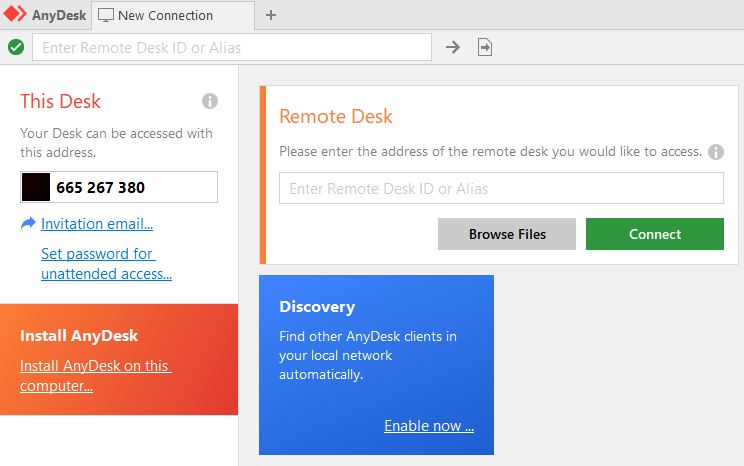 connect to computer remotely using AnyDesk