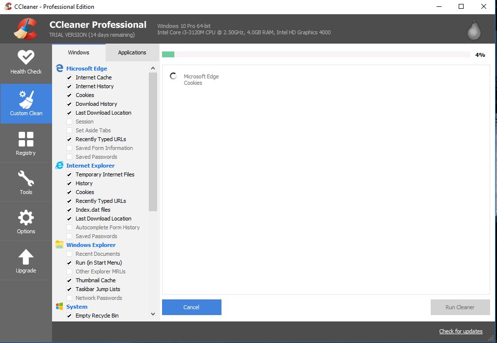 cCleaner professional increase your laptop speed