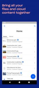 dropbox app home page