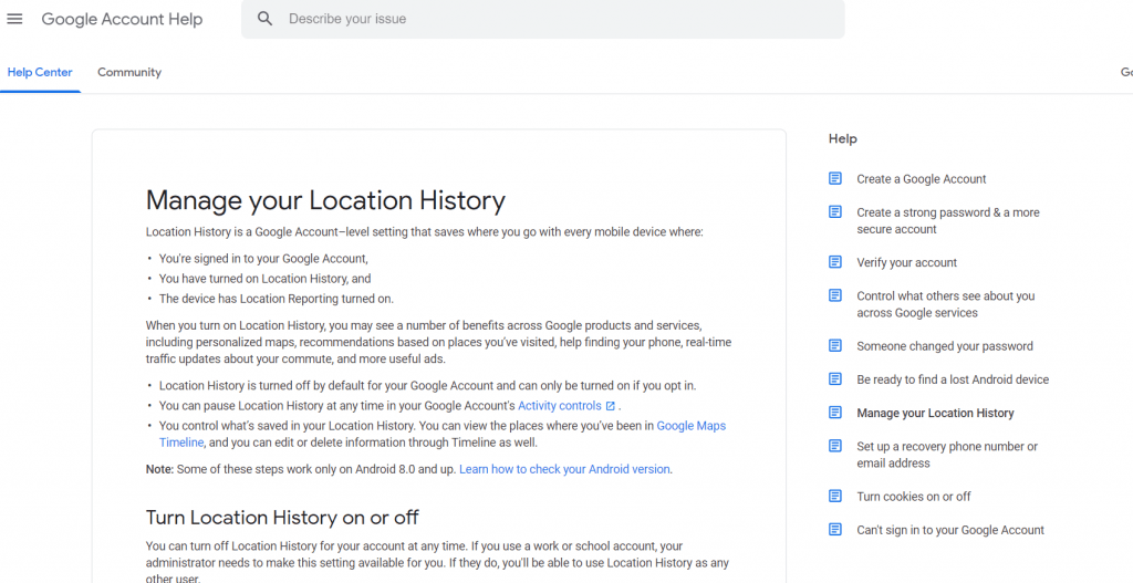 Find your phone location history easily.