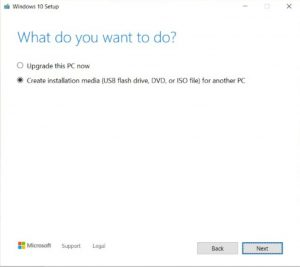 Windows 10 setup 1 USB