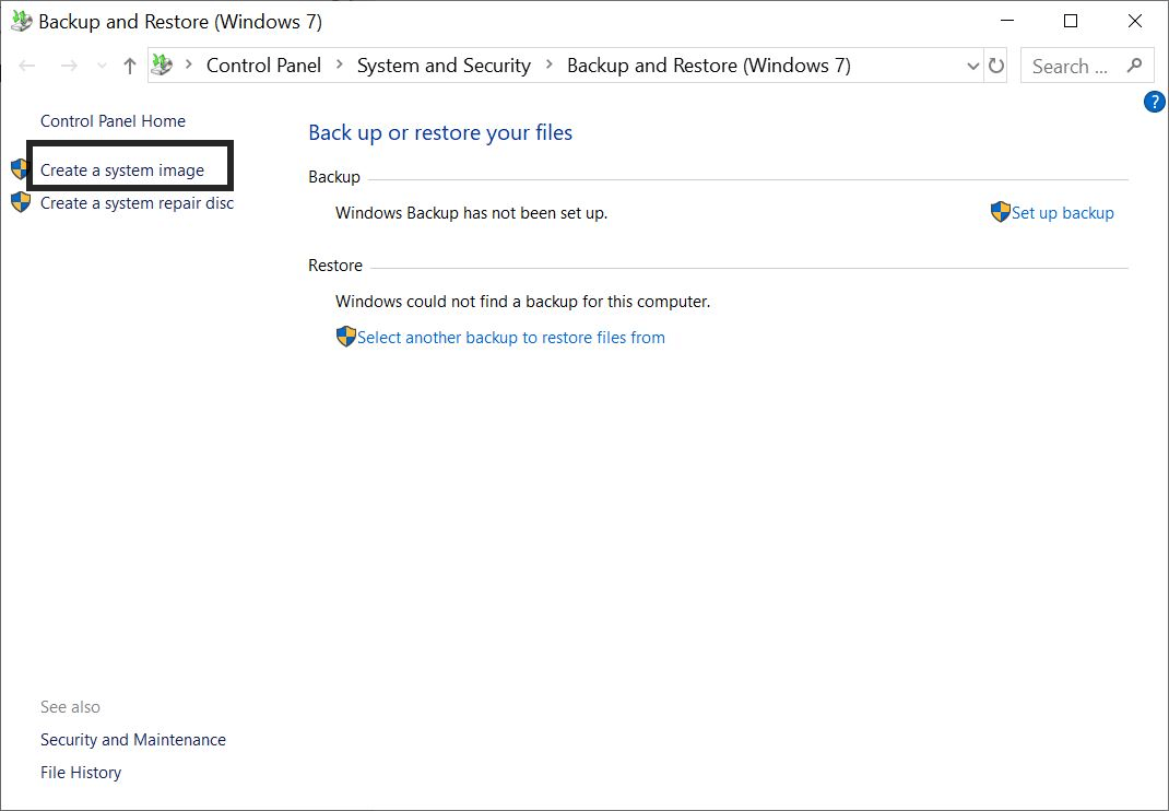 Backup Windows 10  Computer data using External Drive