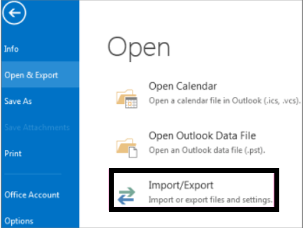Move email, calendar, & contacts from one email account to another for a backup using an Outlook app