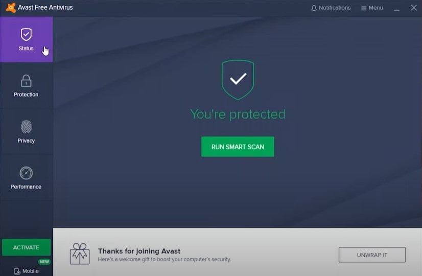 Avast Free antivirus security manager for your device