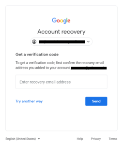 recovery email gmail