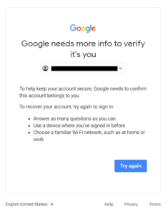use of password recovery tool for gmail