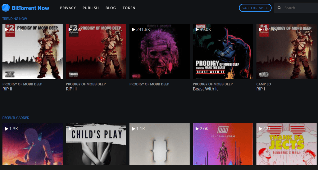 BitTorrent Now public domain for videos, audio and albums free