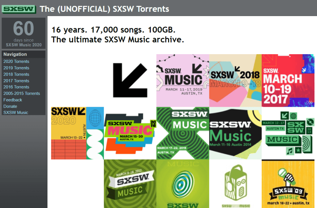 Public domain torrents SXSW to download songs
