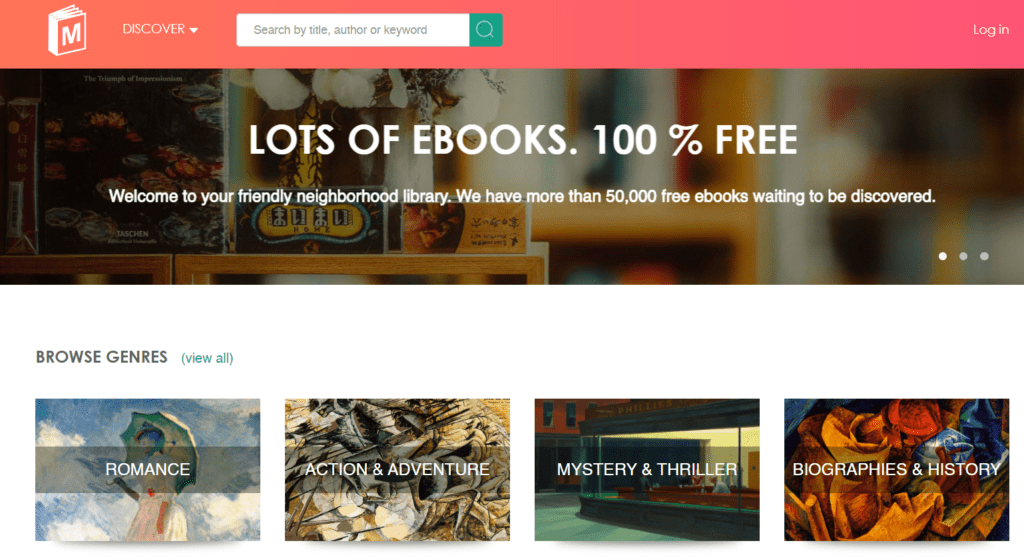 Manybooks  public domain torrents for downloading ebooks
