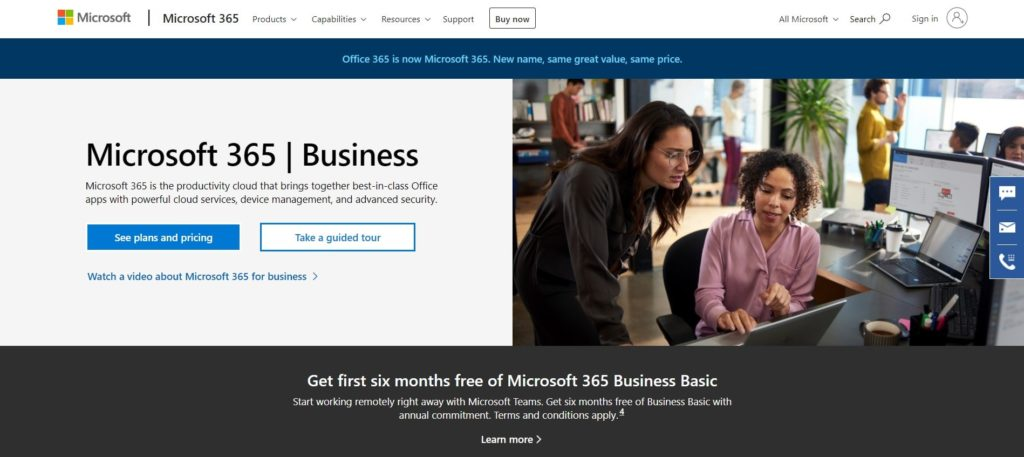office 365 - a good option for the best email services for small businesses.