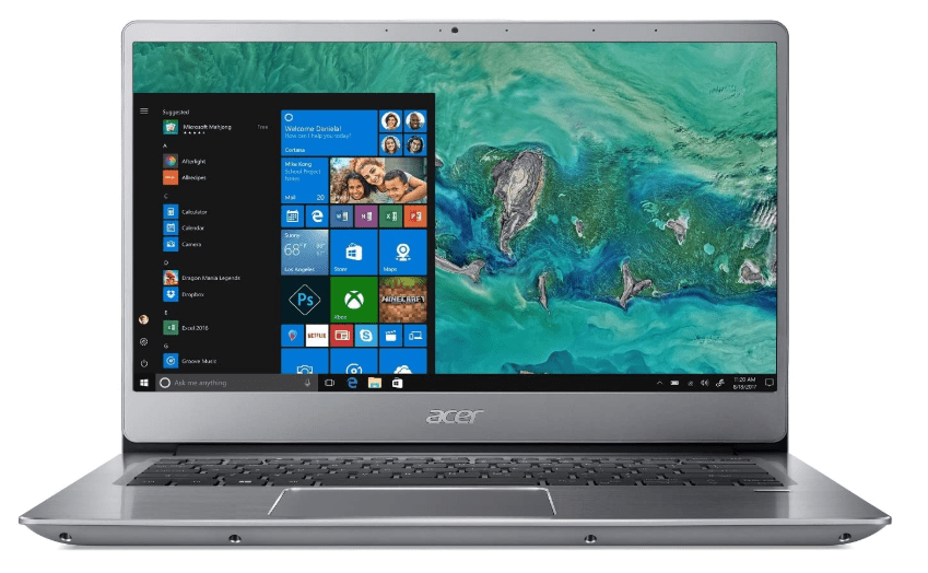 Acer Swift Laptop with 14 inch, the best laptops for android programming