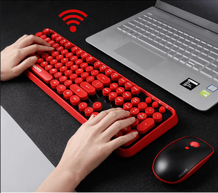 Convenient wireless mouse and keyboard variation.