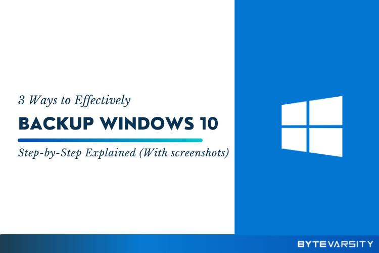how to backup windows 10
