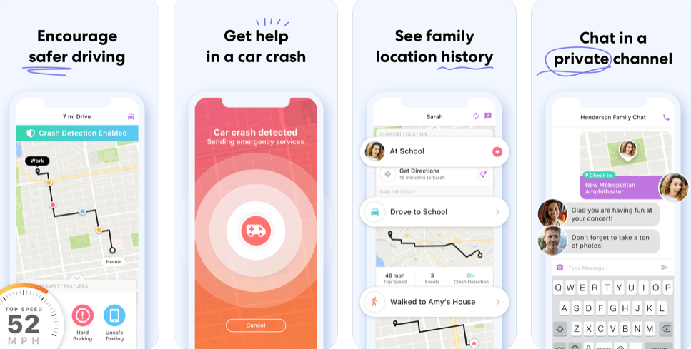 Life 360 can be used very well as a co-parenting app.