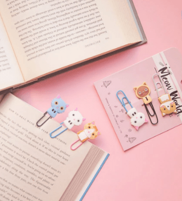 Book marks & paperclips to separate your bundles & hold files together