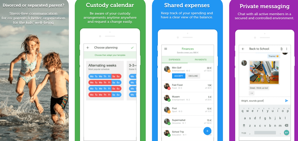 co-parenting apps for android users: 2 houses app for co-parents to communicate hustle free.