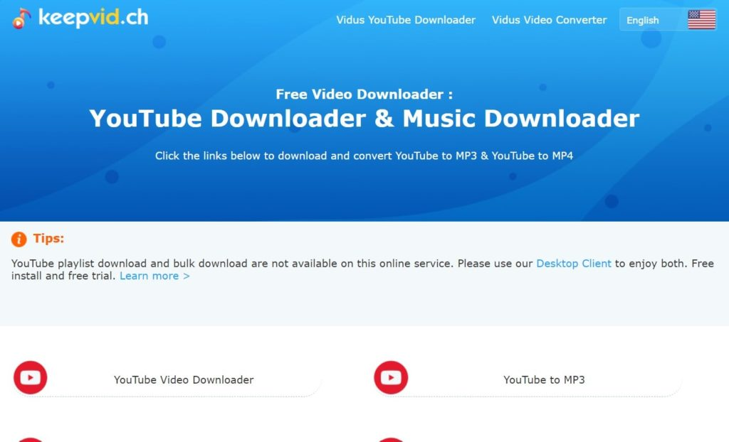 Successfully download YouTube videos without any software from keepvid.ch