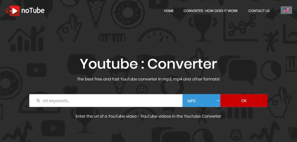 Download any YouTube video in the format you have chosen from notube
