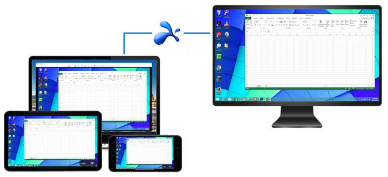 Gain fast & reliable  access with your connections using SplashTop remote viewer