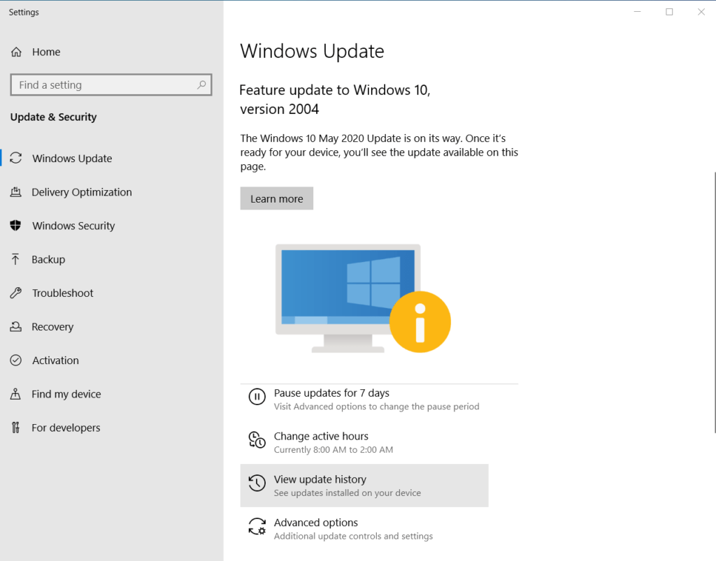 Improve PC performance by regularly updating Windows 10