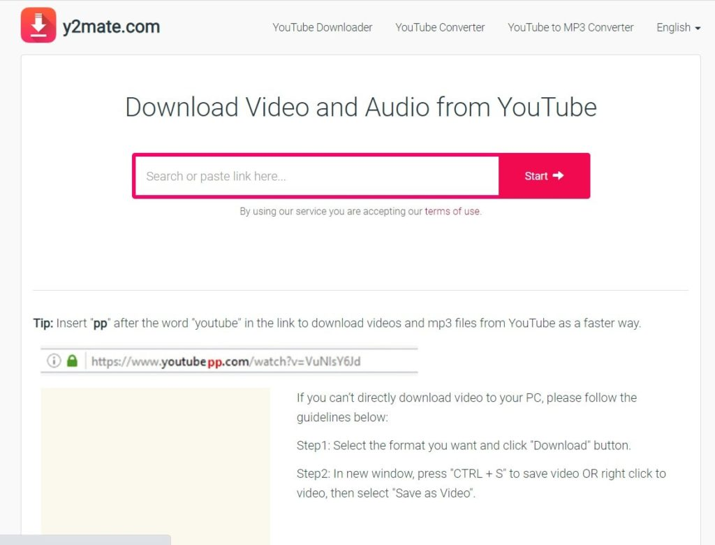 Download Youtube video from y2mate.com without any software in HD quality