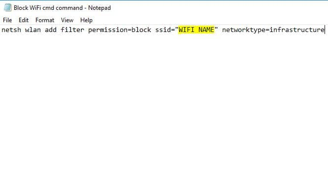 Block WiFi cmd command prompt