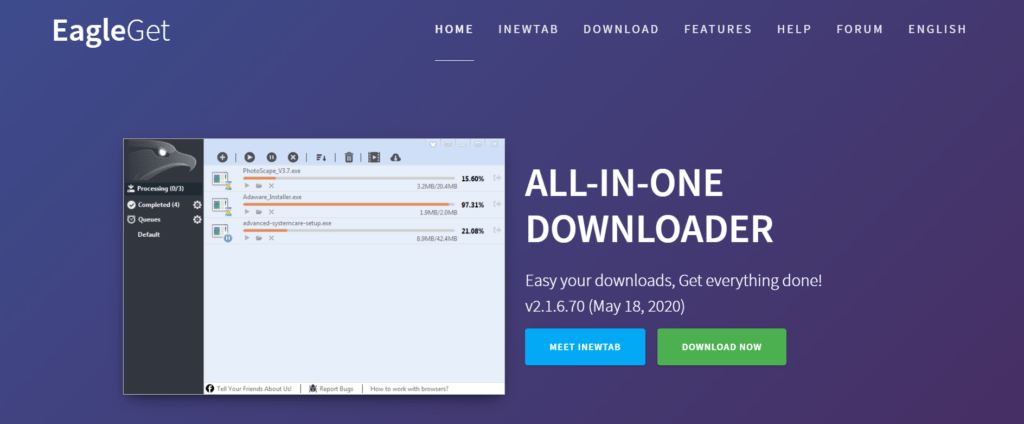 EagleGet Downloader expansion for Google Chrome could dominate and quicken the downloads from your Chrome program.
