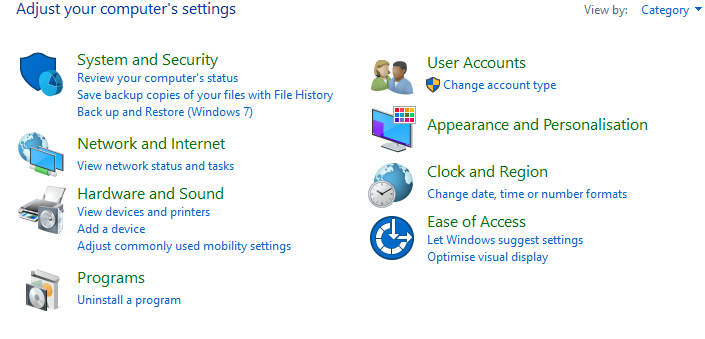 Reset Windows 10 laptop