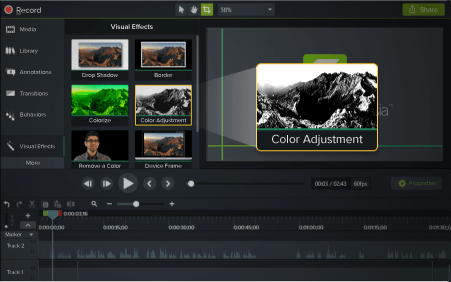 Camtasia is all-in-one screen recorder and video editor