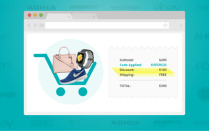 Offers chrome extension for coupon to save money every time you shop