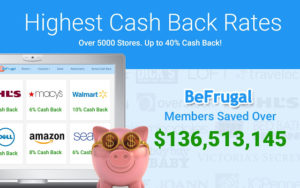 BeFrugal chrome extension for automatic coupons & cashback