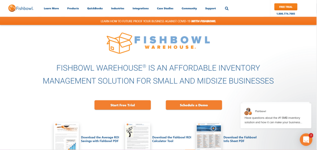Fishbowl Warehouse Management Software helps you and your company to manage multiple warehouses, track shipments, automatically reorder products and generate bar codes