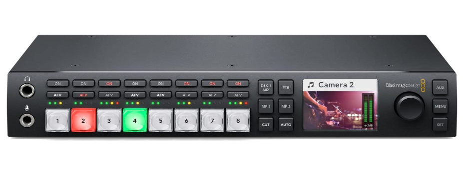 Blackmagic Design ATEM Television Studio HD Live Production Switcher, best video switcher for live streaming