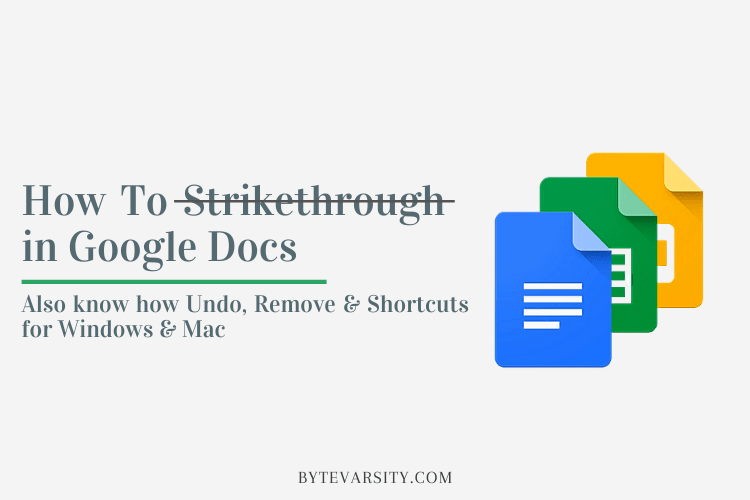 How to Strikethrough in Google Docs: Undo, Remove & Shortcuts