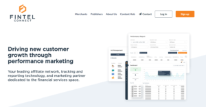 Fintel Connect- affiliate network, tracking and reporting technology, and marketing partner dedicated to the financial services space.